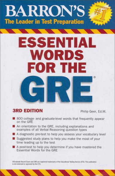 Barrons Essential Words for the GRE