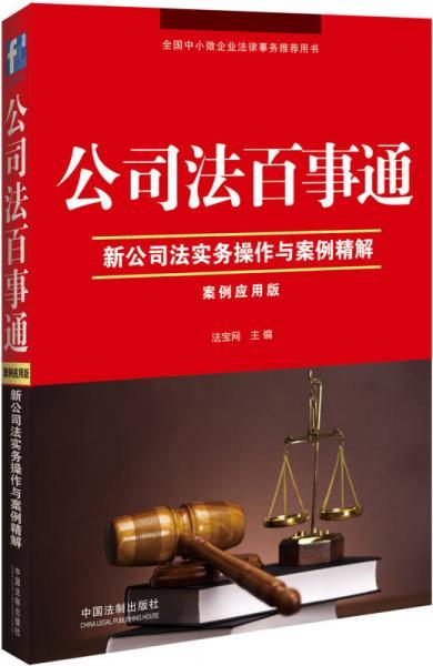公司法百事通:新公司法实务操作与案例精解(案例应用版)
