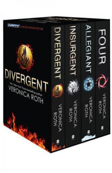 Divergent Series Box Set (Books 1-4 Plus World of Divergent)分歧者套装,共4册 英文原版