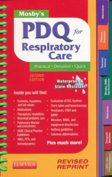 Mosbys PDQ for Respiratory Care, 2nd Edition