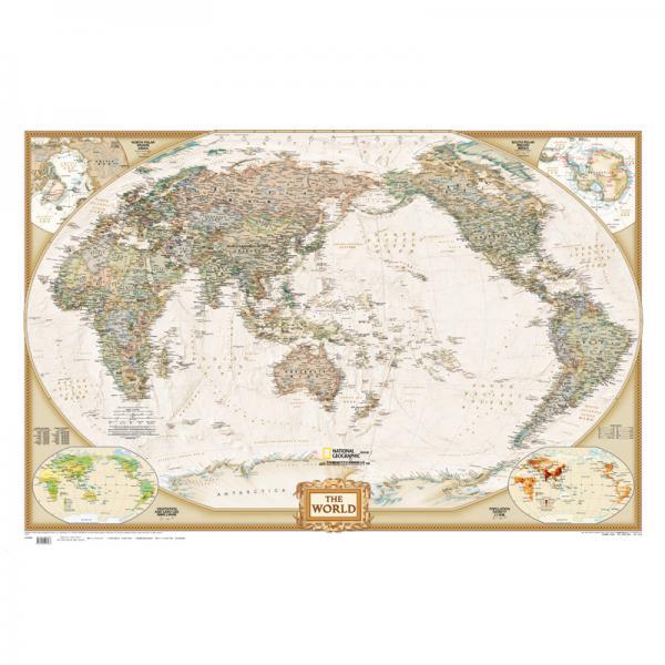 亚洲地图(NG仿古)(折叠袋装)