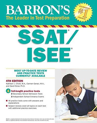 Barrons SSAT/ISEE: Secondary School Admission test/Independent School Entrance Exam