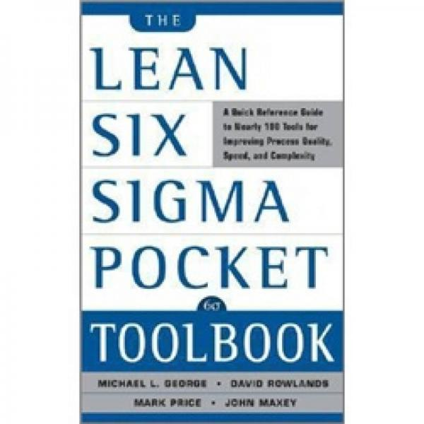 The Lean Six Sigma Pocket Toolbook