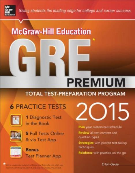 Mh Education Gre Premium 2015 Ed