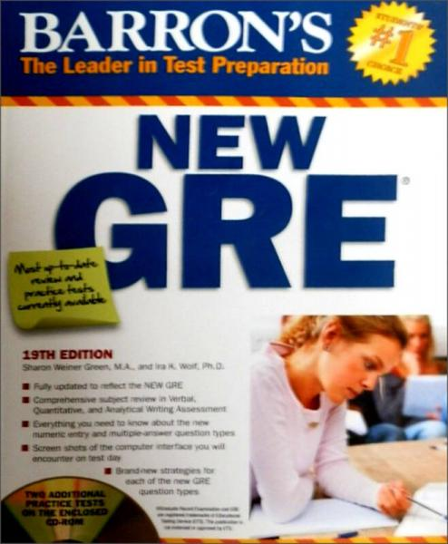 Barrons New GRE with CD-ROM, 19th Edition (Barrons GRE)