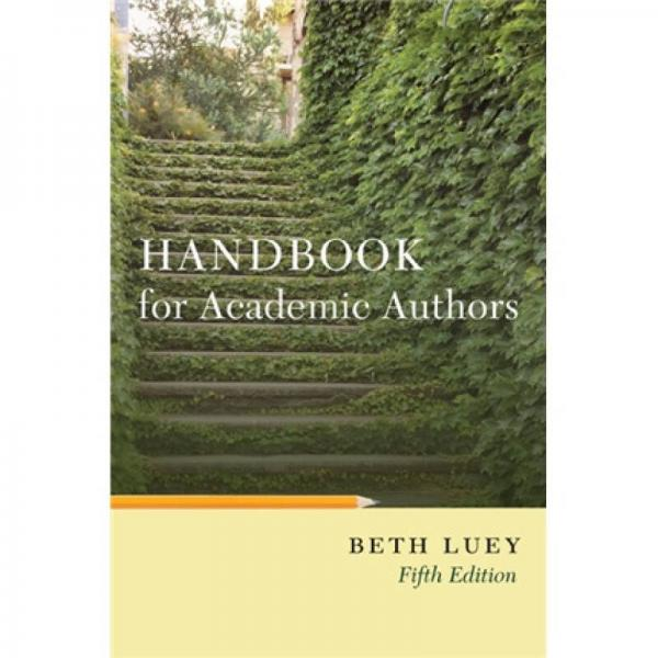Handbook for Academic Authors[学术作者手册]