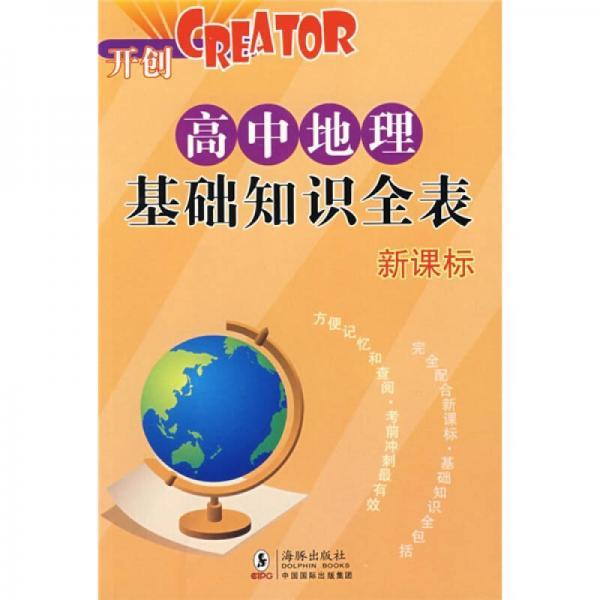 高中各科基础知识全表·CREATOR开创:高中地理基础知识全表