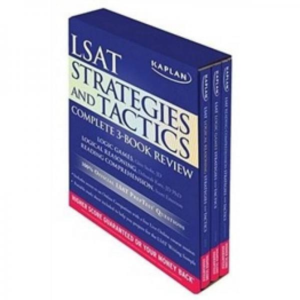 Kaplan LSAT Strategies and Tactics Complete 3-Book Series