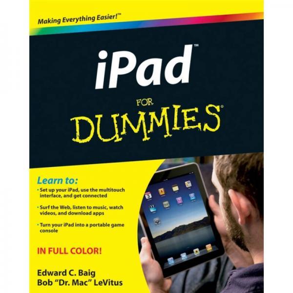 iPad For Dummies  苹果iPad 傻瓜书
