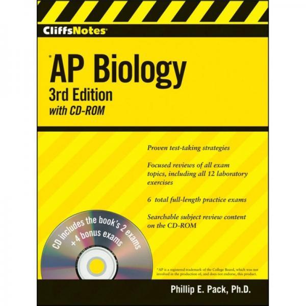 CliffsNotes AP Biology, 3rd Edition[生物学]