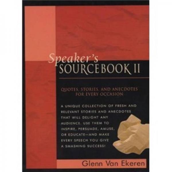 Speakers Sourcebook II (Bk.2)