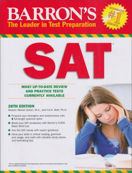Barrons SAT, 26th Edition