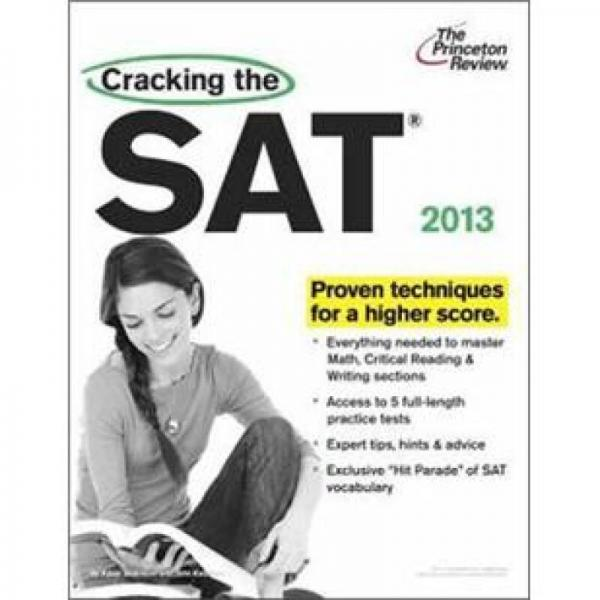 Cracking the SAT with DVD, 2013 Edition (College Test Preparation)