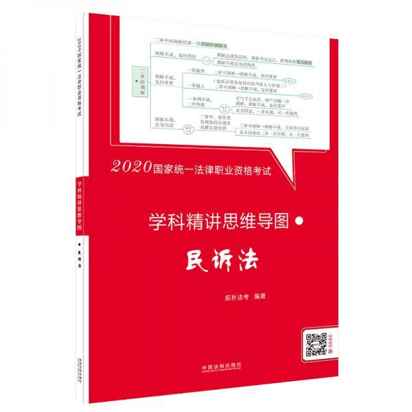 司法考试20202020国家统一法律职业资格考试学科精讲思维导图:民诉法