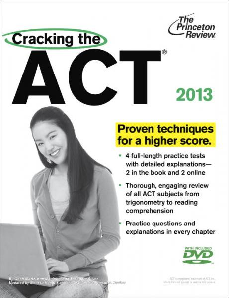 CrackingtheACTwithDVD,2013Edition(PrincetonReview:CrackingtheACT(w/DVD))
