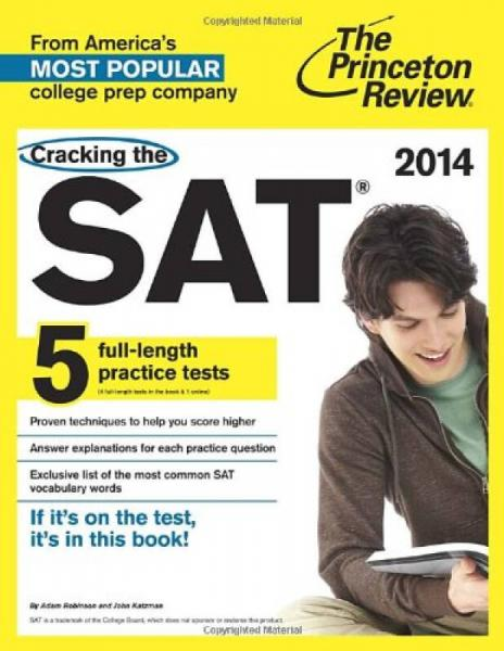 Cracking the SAT, 2014 Edition (College Test Preparation)
