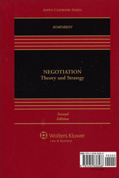 Looseleaf: Legal Negotiation: Theory & Strategy, 2nd Edition[法律谈判:理论与策略]