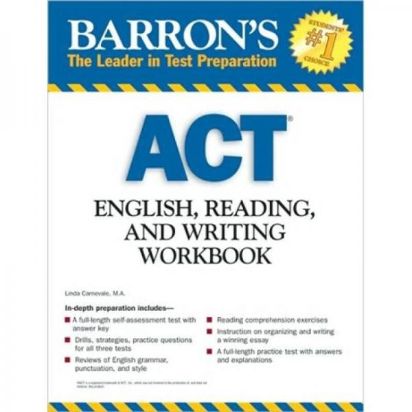 Act English, Reading and Writing Workbook (Barrons ACT) (Barrons Act English, Reading and Writing)
