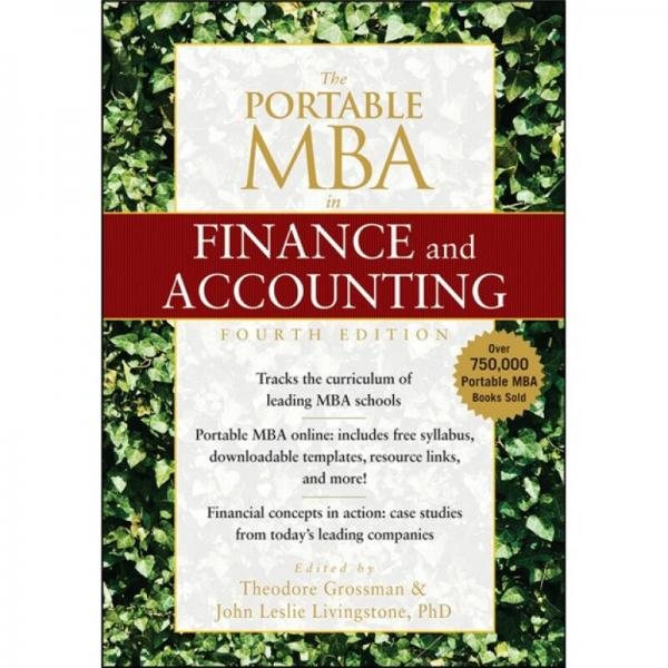 The Portable MBA in Finance and Accounting, 4th Edition[MBA金融与会计便携式指南,第4版]