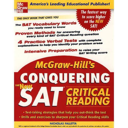 (Kaplan新编SAT阅读指南)  McGraw-Hills Conquering the New SAT Critical Reading