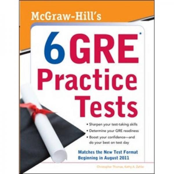McGraw-Hills 6 GRE Practice Tests  MH GRE 6套真题集