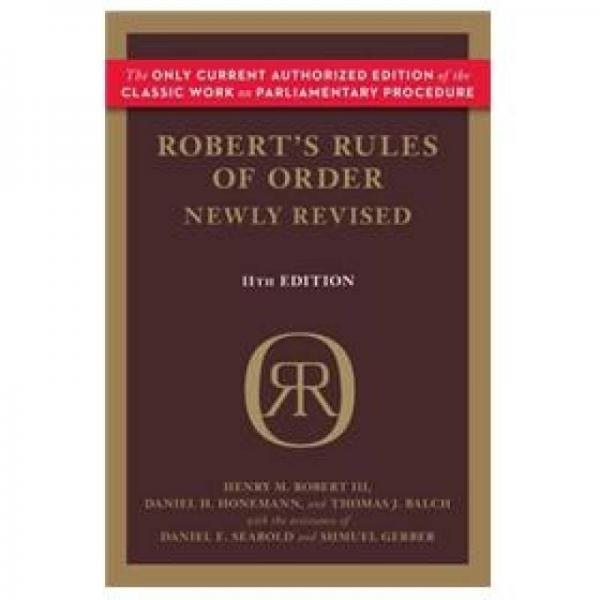 Roberts Rules of Order Newly Revised, 11th edition