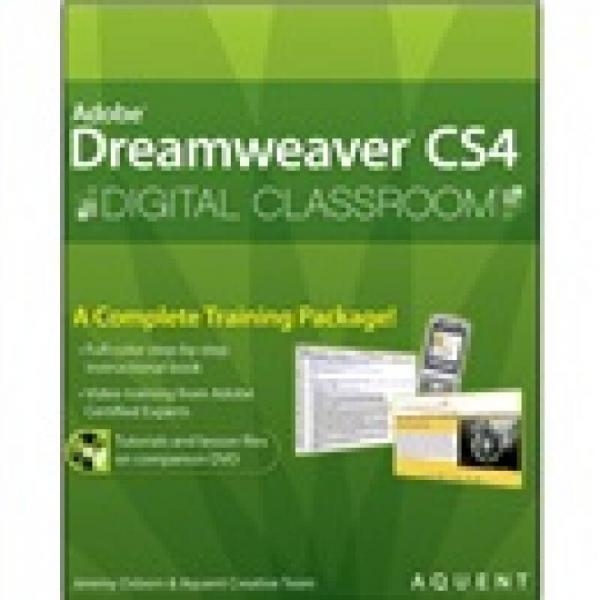 Dreamweaver CS4 Digital Classroom (Pap/Cdr edition )[DRER 数字课堂]