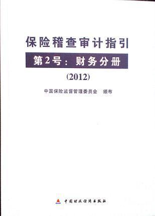 保险稽查审计指引第2号:财务分册