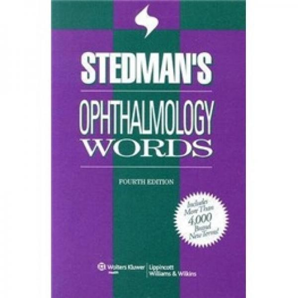Stedmans Ophthalmology Words