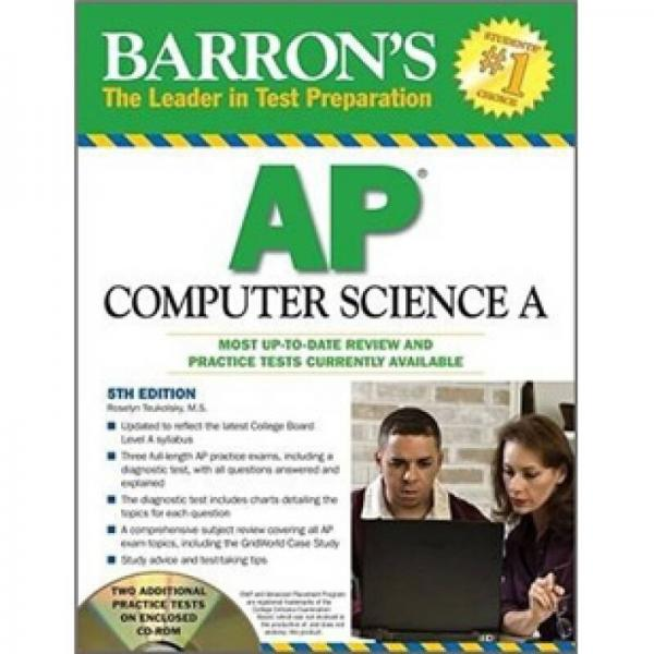 Barrons AP Computer Science A with CD-ROM (Barrons AP Computer Science (W/CD))