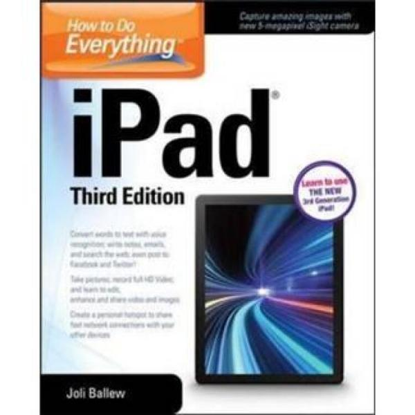 HowtoDoEverything:iPad,3rdEdition:covers3rdGeniPad