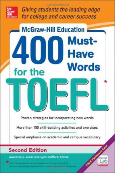 Mcgraw-Hill Education 400 Must-Have Words For The Toefl, 2Nd Edition新托福官方指定核心词汇超详解
