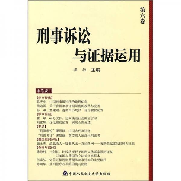 刑事诉讼与证据运用(第6卷)