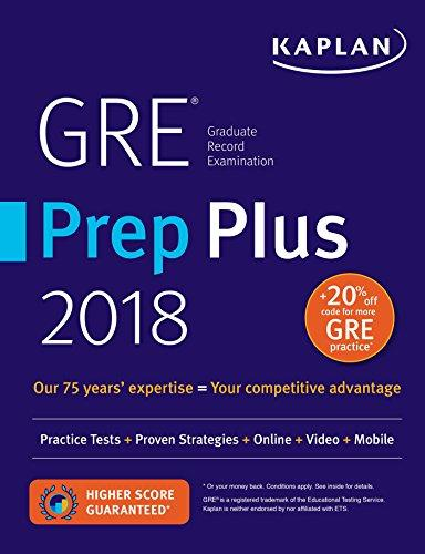 GRE Prep Plus 2018: Practice Tests + Proven Strategies + Online + Video + Mobile