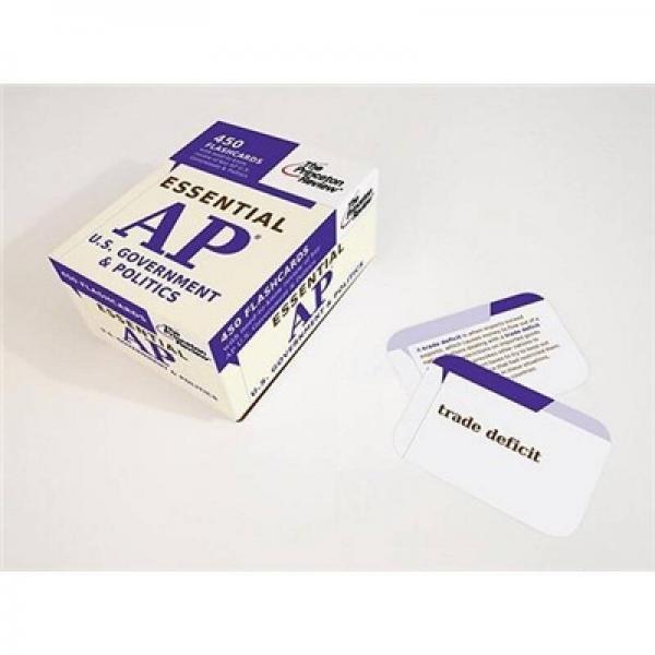 Essential AP U.S. Government & Politics (College Test Preparation)(Cards)
