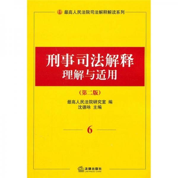 刑事司法解释理解与适用6(第2版)