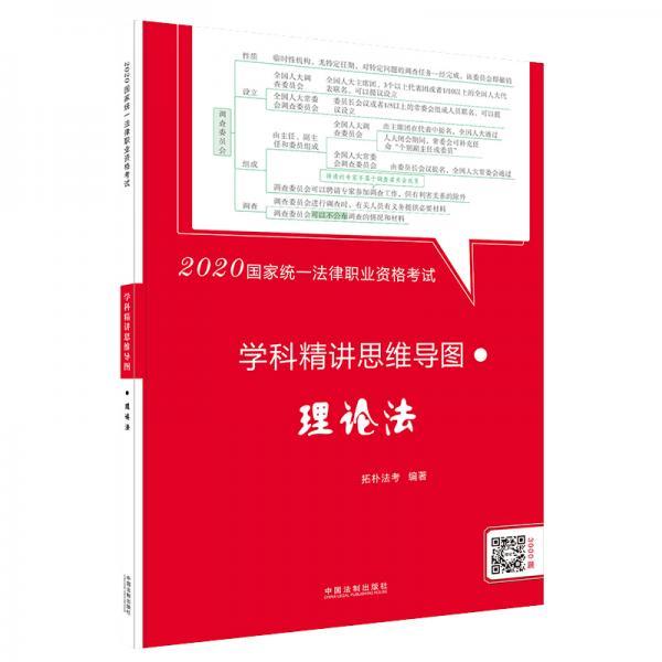 司法考试20202020国家统一法律职业资格考试学科精讲思维导图:理论法