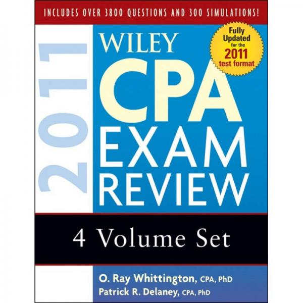 Wiley CPA Exam Review 2011 (4-volume Set)