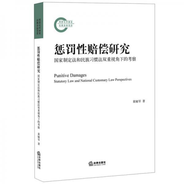 惩罚性赔偿研究:国家制定法和民族习惯法双重视角下的考察