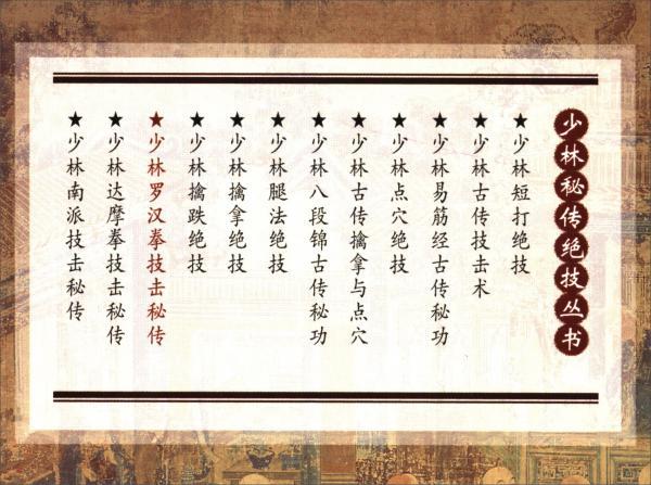 少林罗汉拳技击秘传/少林秘传绝技丛书