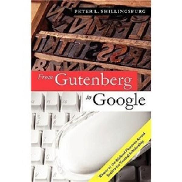 FromGutenbergtoGoogle:ElectronicRepresentationsofLiteraryTexts