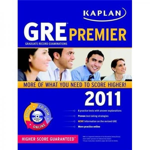 Kaplan GRE 2011 Premier with Cd-Rom