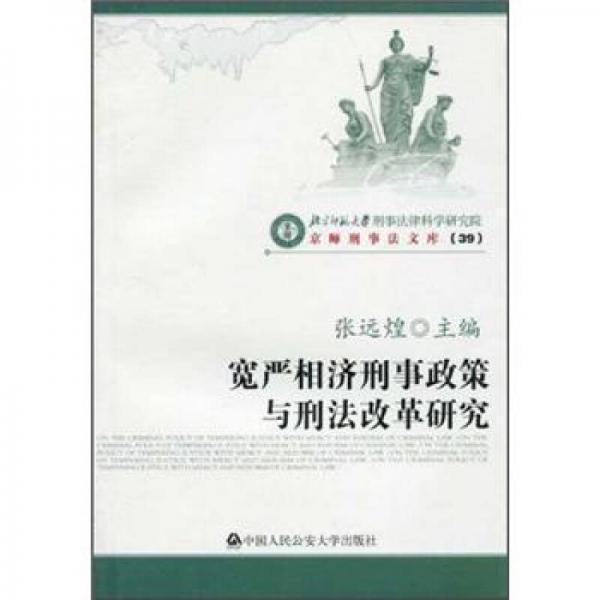 宽严相济刑事政策与刑法改革研究