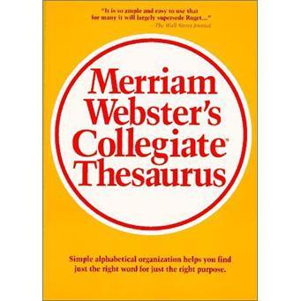 MerriamWebster'sCollegiateThesaurus
