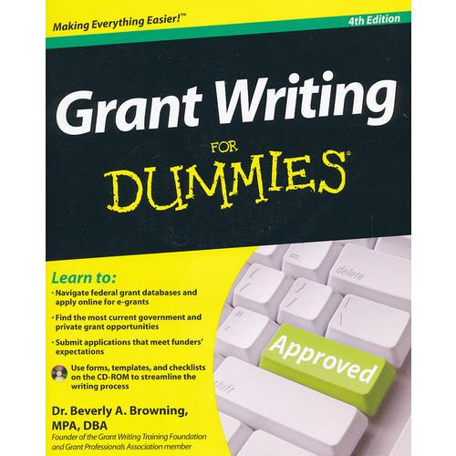 Grant Writing For Dummies, 4Th Edition, With Cd-Rom