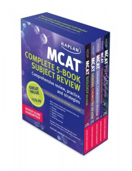 Kaplan MCAT Premier Complete 5-book Subject Review