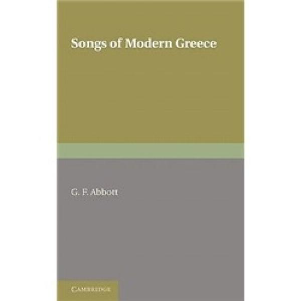SongsofModernGreece:WithIntroductions,Translations,andNotes