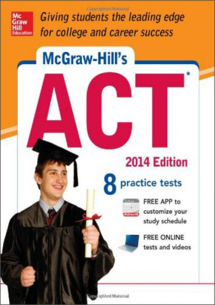 McGraw-Hills ACT 2014 with CD-ROM (Book + CD)