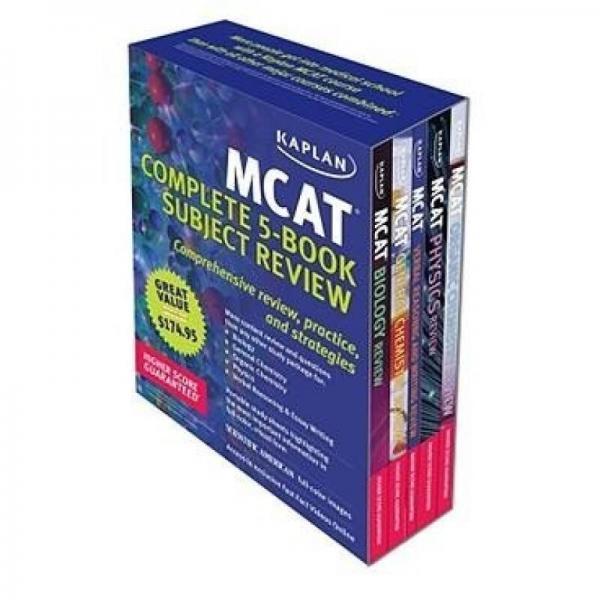 Kaplan MCAT Review: Complete 5-Book Series
