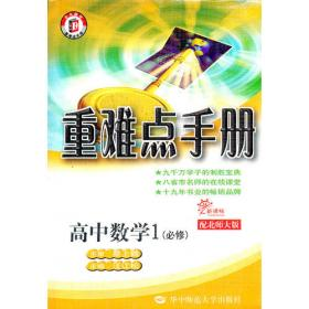 重难点手册:新课标高中数学2 (必修)(配人教A版)